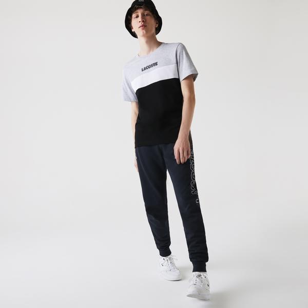 Lacoste Men's SPORT Colorblock Cotton Blend Jersey T-shirt
