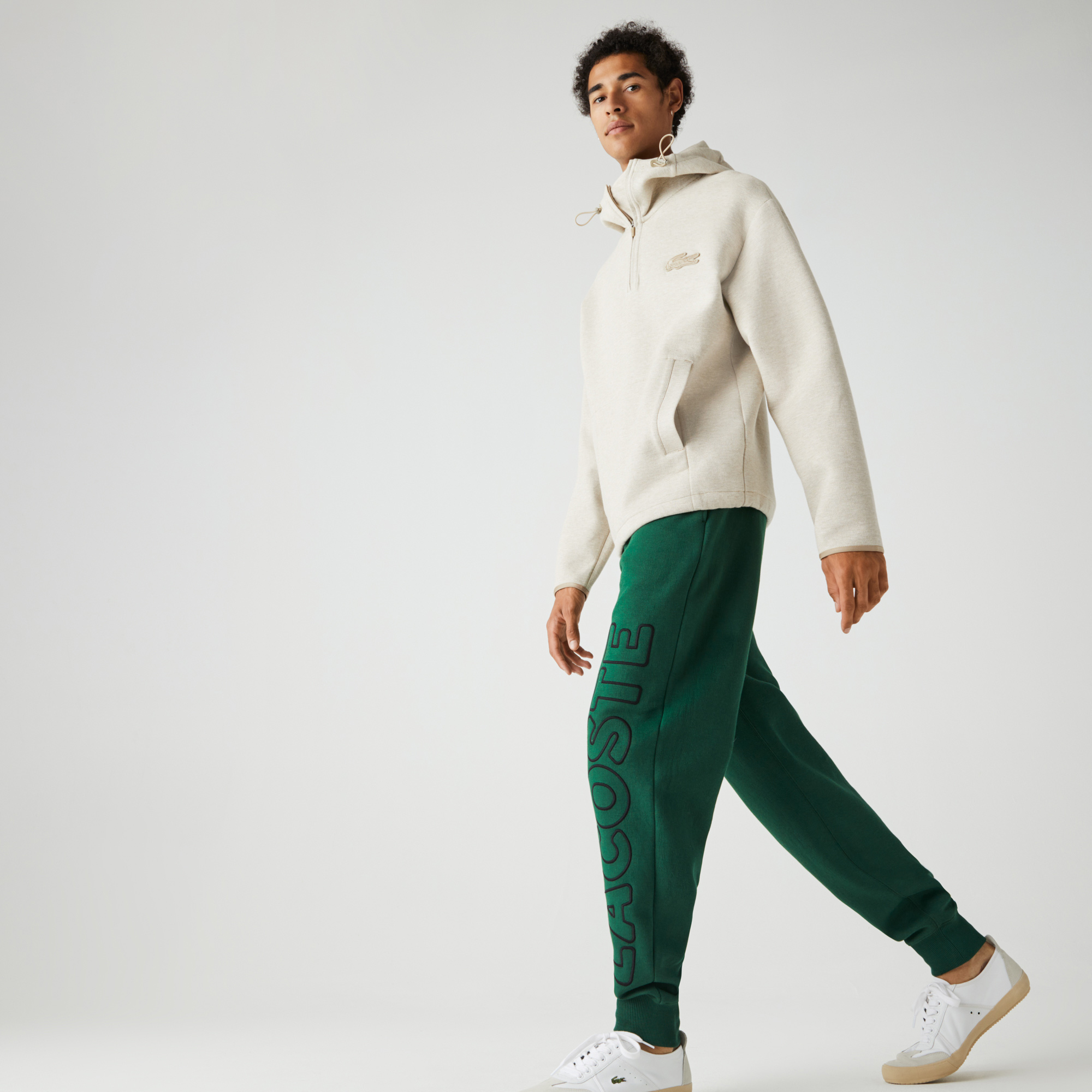 Lacoste Unisex LIVE Embroidered Cotton Blend Tracksuit Pants