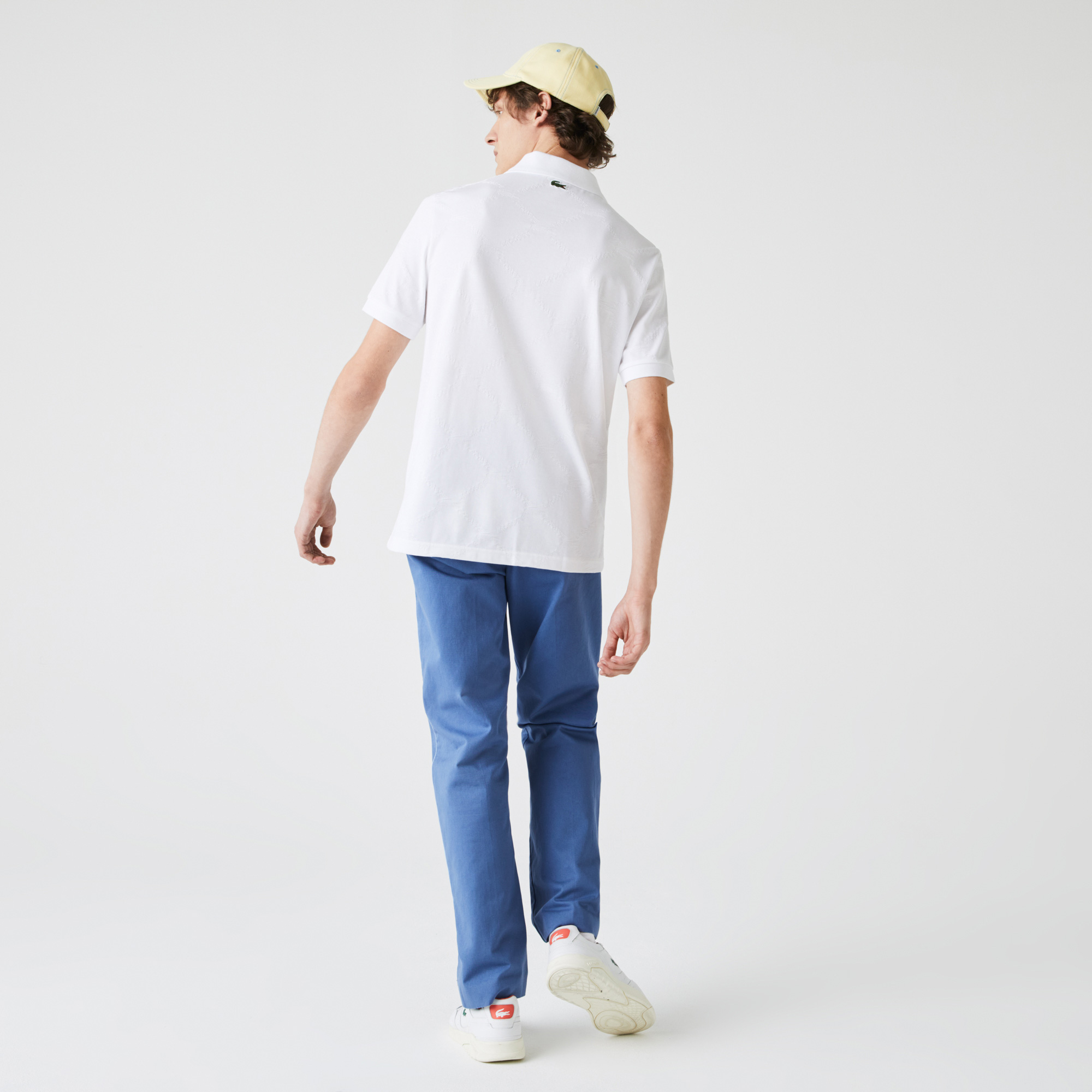 Lacoste Men's Lacoste LIVE Standard Fit Monogram Patterned Polo Shirt
