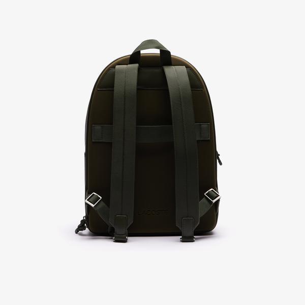 Lacoste Men's Chantaco Graphic Piqué Leather Backpack