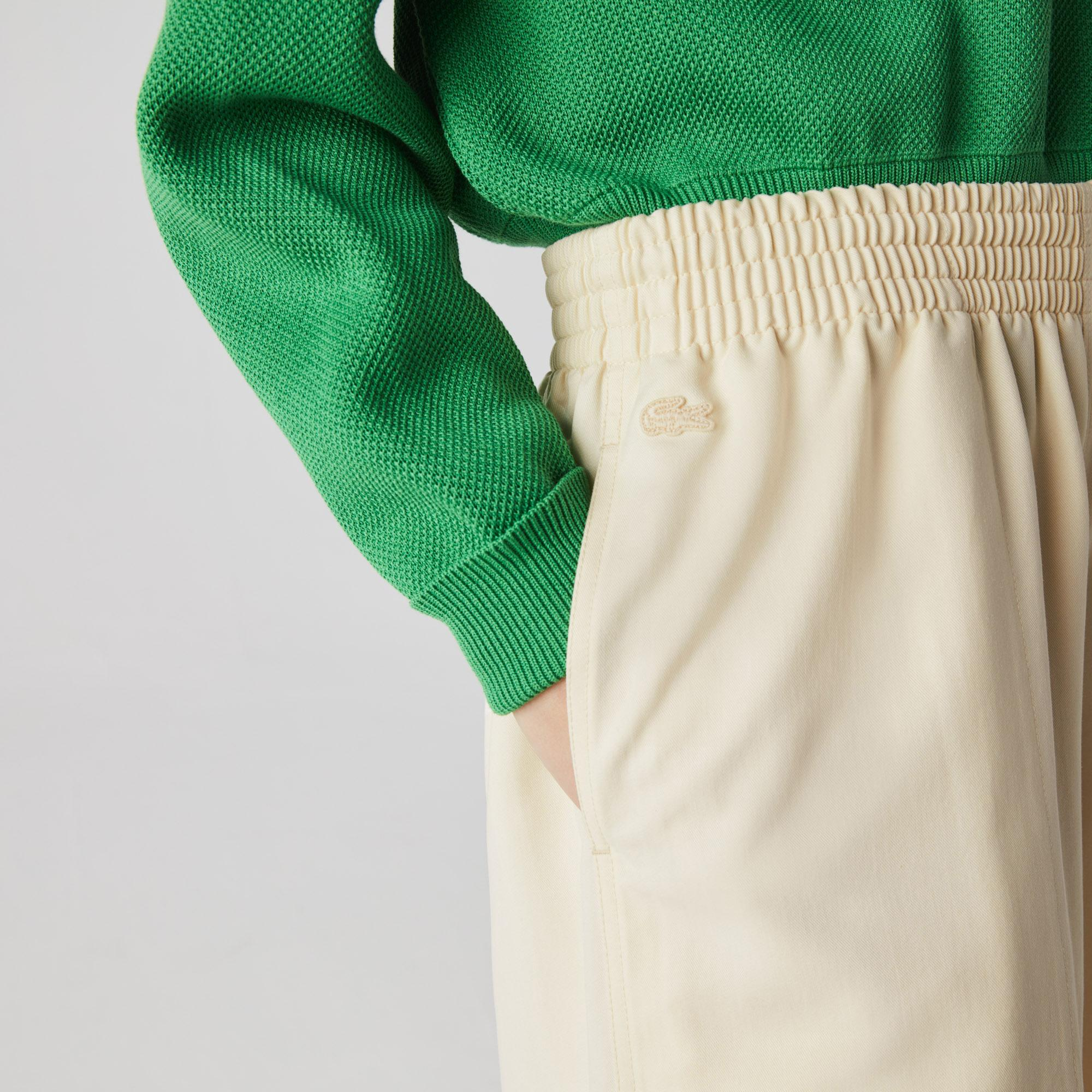Lacoste Women's High-Waisted Flowing Culotte Skirt