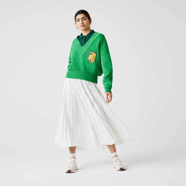 Lacoste светр жіночий LIVE з V-вирізом