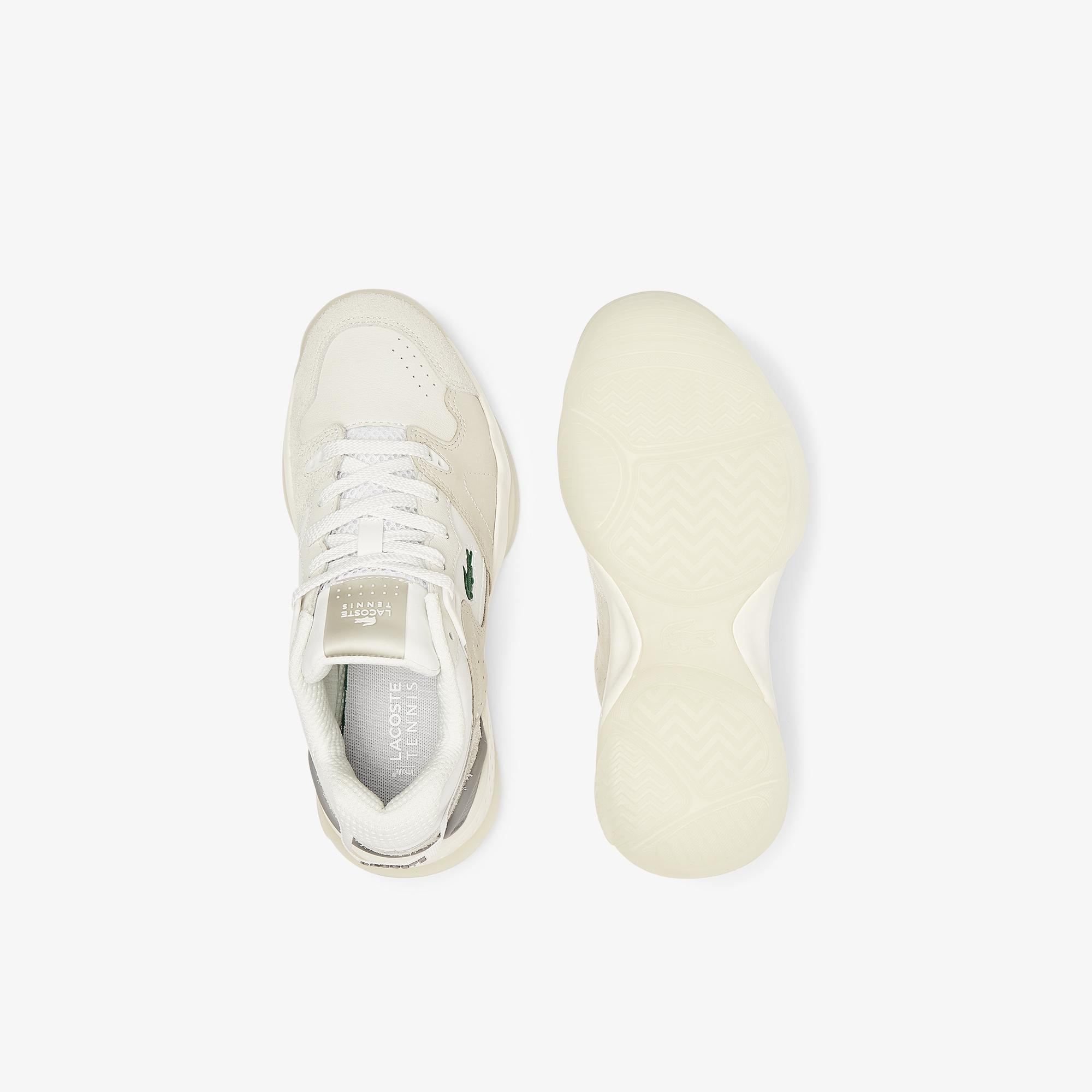 Lacoste Women's T-Point Nubuck Leather Trainers