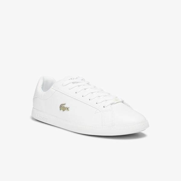 Lacoste Men's Graduate Leather and Synthetic Trainers