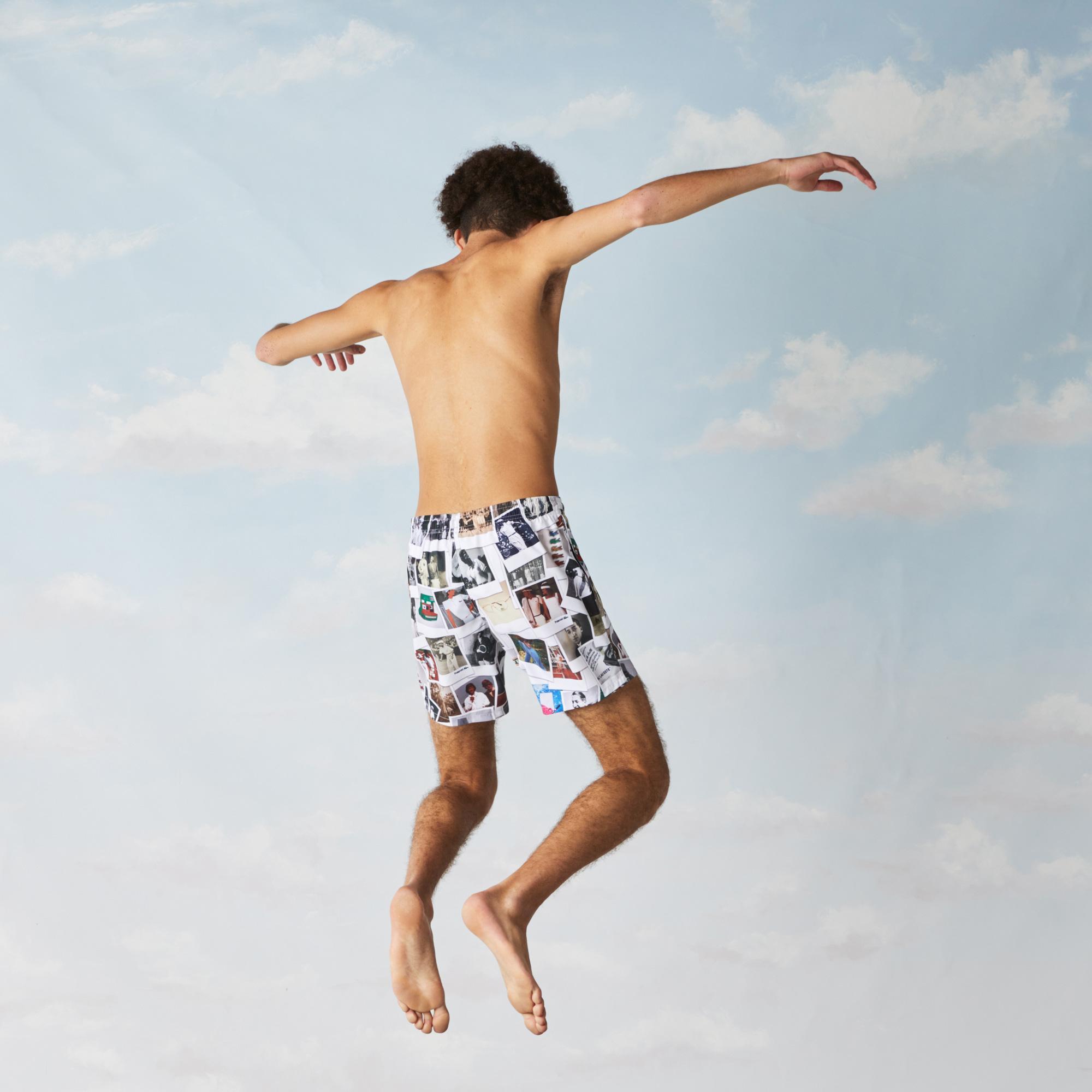 Lacoste LIVE x Polaroid Unisex Print Swimming Trunks