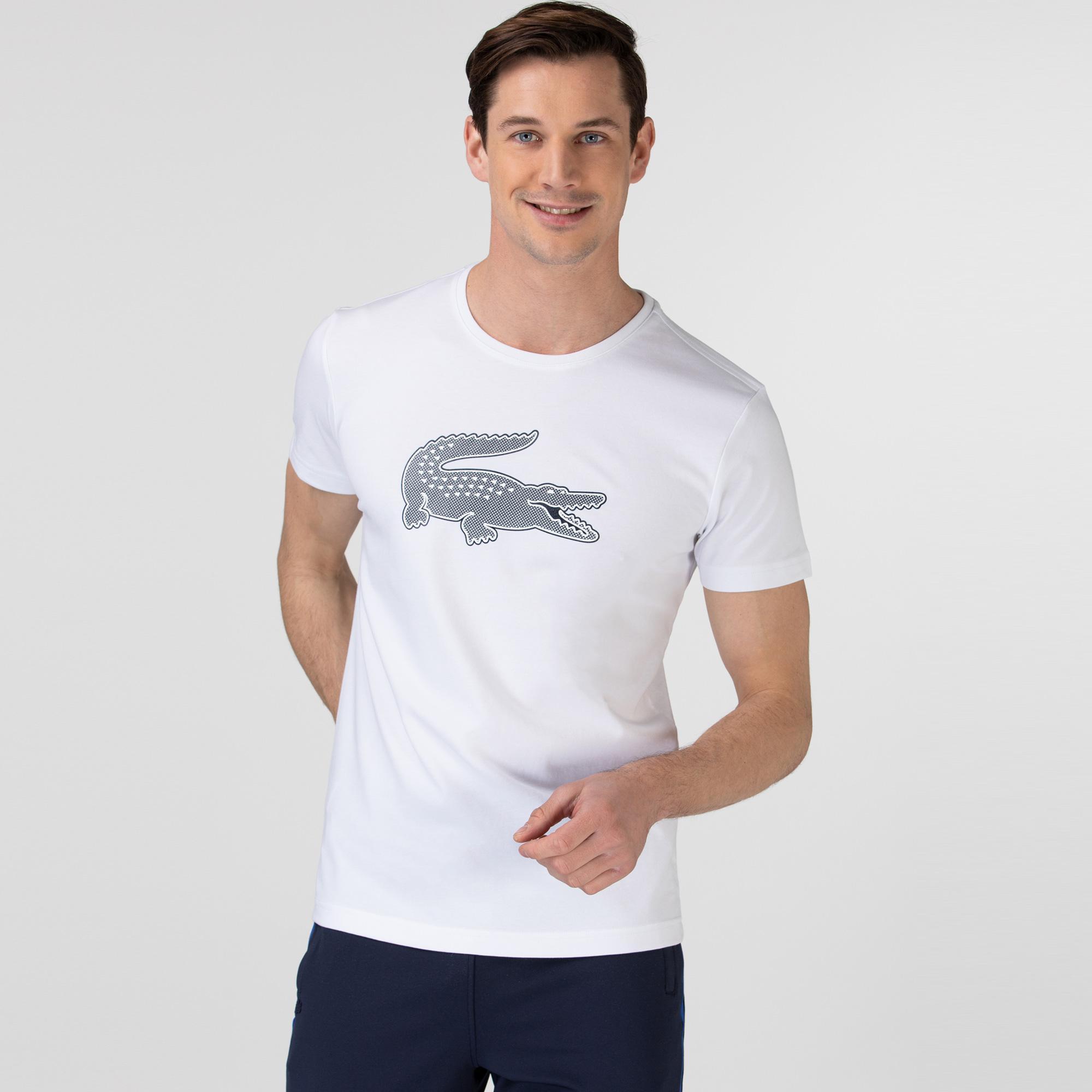 Lacoste Men's SPORT 3D Print Crocodile Breathable Jersey T-shirt