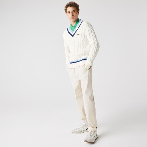 Lacoste светр унісекс з V-вирізом
