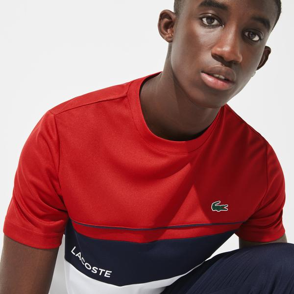 Lacoste Men's SPORT Crew Neck Breathable Colourblock T-shirt