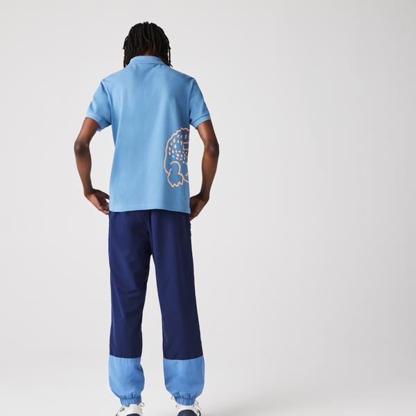 Lacoste Men's Regular Fit Crocodile Print Cotton Piqué Polo Shirt
