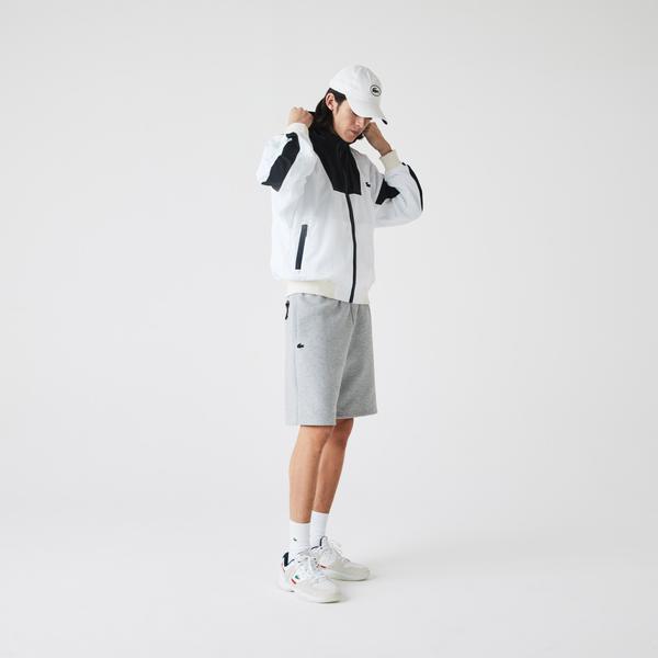 Lacoste Men's Bimaterial Cotton Blend Shorts