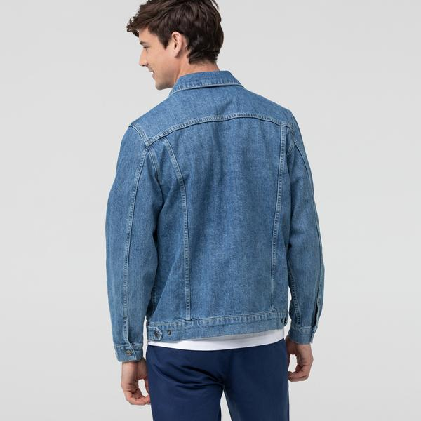 Lacoste Men's Pockets Cotton Denim Jacket