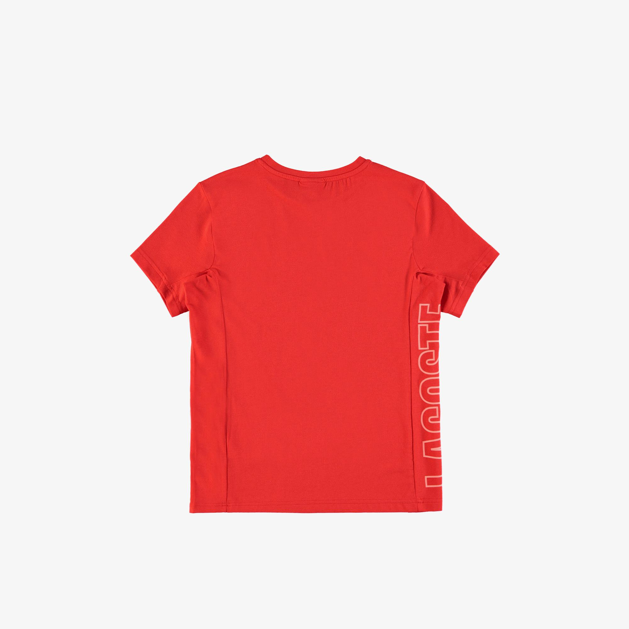 Lacoste футболка дитяча з круглим вирізом