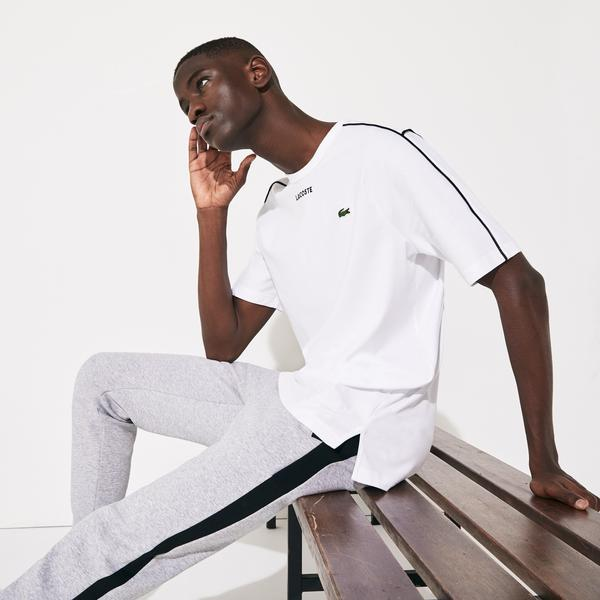 Lacoste Men's SPORT Piped Cotton T-Shirt