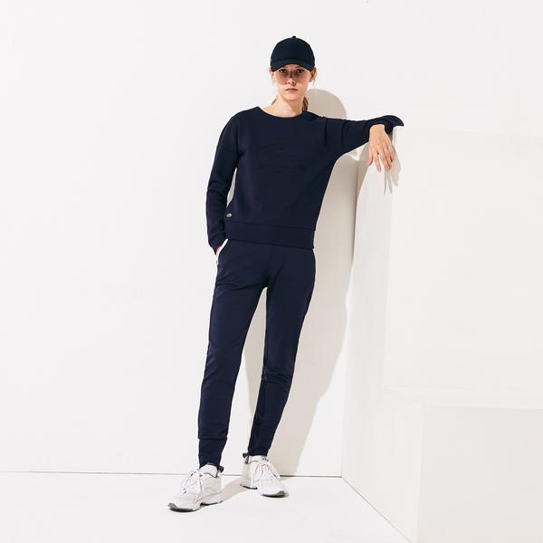 Lacoste Women's Sport Oversized 3D Croc Fleece Tennis Sweatshirt
