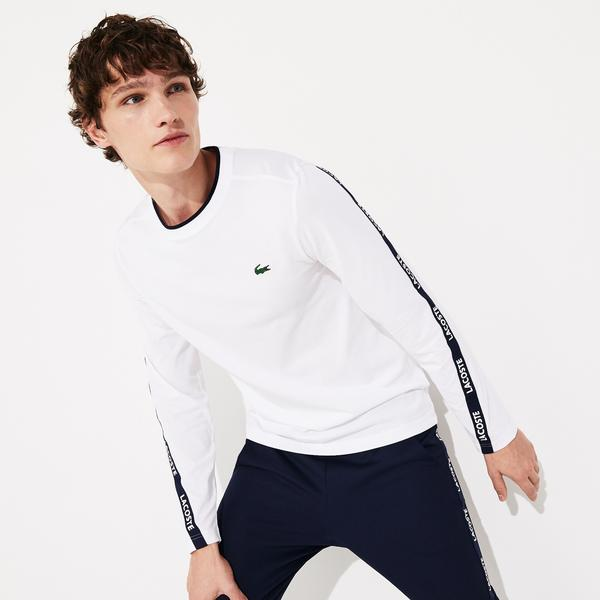 Lacoste Sport Men's Signature Bands Breathable T-Shirt