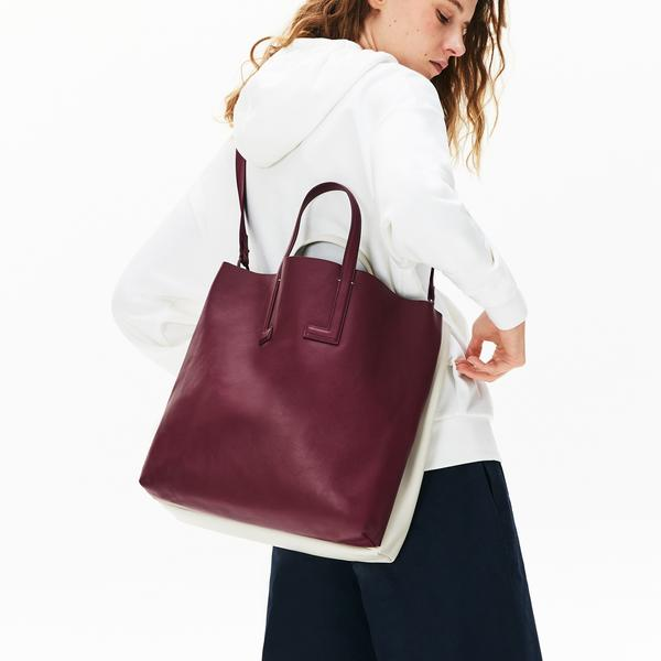 Lacoste Women's Fashion Show Two-Tone Leather Double Tote