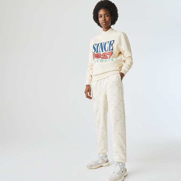 Lacoste Unisex LIVE Print Fleece Tracksuit Pants