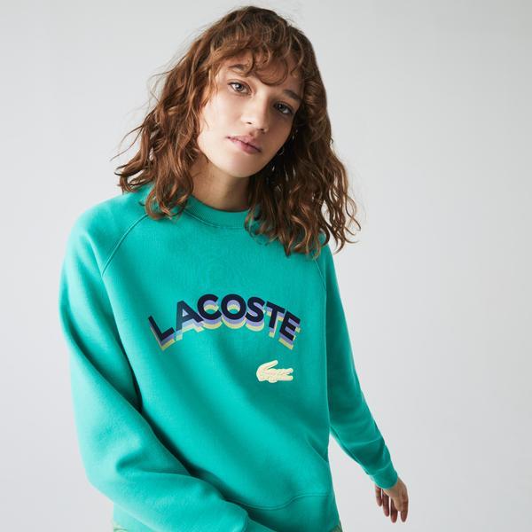 Lacoste Women's LIVE Lettered Cropped Sweatshirt