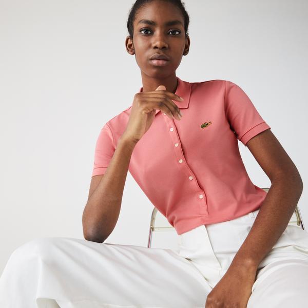 Lacoste Women's LIVE Slim Fit Stretch Cotton Piqué Polo Shirt