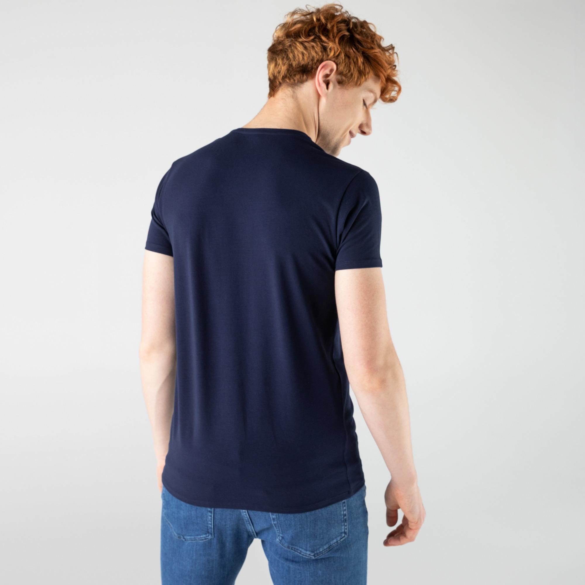 Lacoste футболка чоловіча з V-вирізом